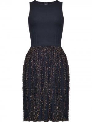 Приталенное платье без рукавов Pinko. Цвет: черный