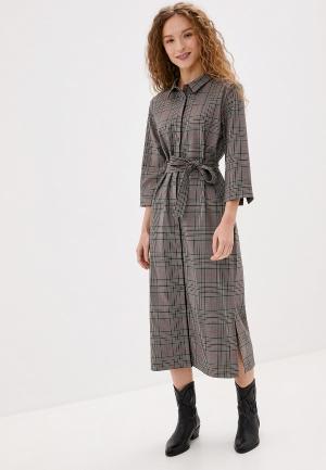 Платье UNQ. Цвет: коричневый