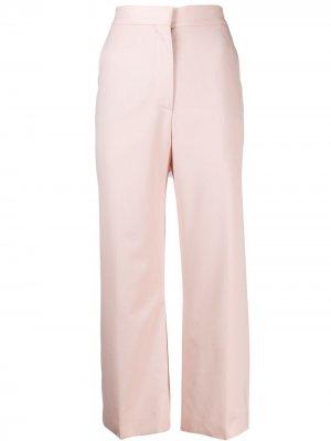 Укороченные брюки прямого кроя Stella McCartney. Цвет: розовый