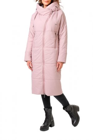 Пальто DizzyWay. Цвет: серо-розовый