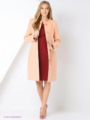 Пальто Amulet. Цвет: персиковый