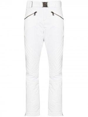Укороченные лыжные брюки с поясом Bogner. Цвет: белый
