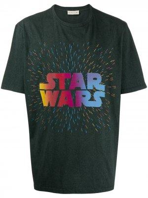 Футболка с надписью Star Wars Etro. Цвет: серый
