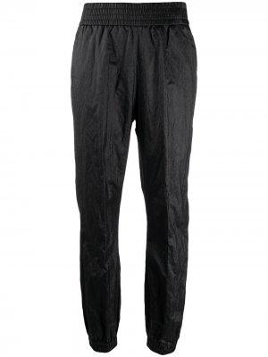 Зауженные брюки с эффектом металлик Fabiana Filippi. Цвет: черный