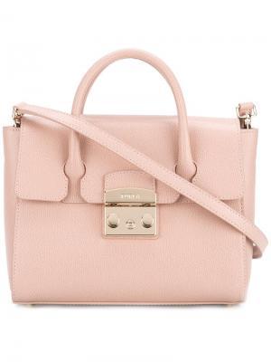 Сумка-тоут Metropolis Furla. Цвет: розовый и фиолетовый
