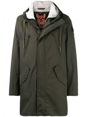 Пальто на подкладке с капюшоном Moose Knuckles. Цвет: зеленый