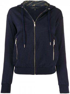 Куртка-бомбер на молнии Armani Exchange. Цвет: синий