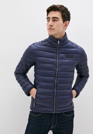 Куртка утепленная Karl Lagerfeld. Цвет: синий