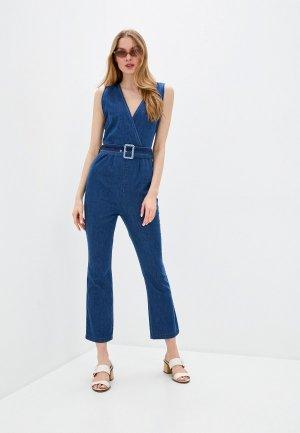 Комбинезон джинсовый Rinascimento. Цвет: синий