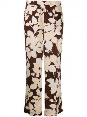 Укороченные брюки палаццо с цветочным принтом Seventy. Цвет: нейтральные цвета