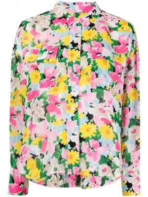 Блузка с цветочным принтом Essentiel Antwerp. Цвет: розовый