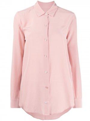 Однотонная рубашка Equipment. Цвет: розовый