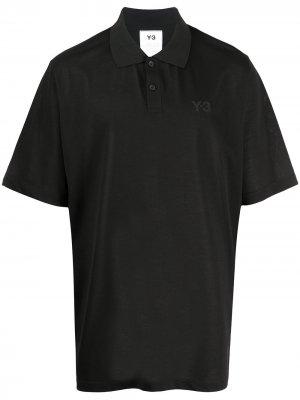 Рубашка-поло оверсайз Y-3. Цвет: черный