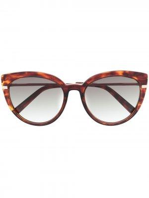 Солнцезащитные очки Promiscuous в оправе кошачий глаз Le Specs. Цвет: золотистый