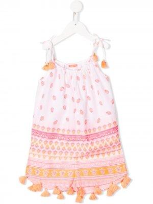Комплект шорт с принтом пейсли Sunuva. Цвет: белый