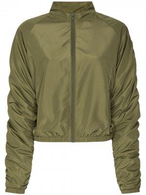 Укороченная спортивная куртка Fantabody. Цвет: зеленый