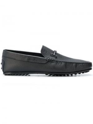 City Grommino driving loafer Tod's. Цвет: черный