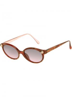 Солнцезащитные очки с жемчужинами Christian Lacroix Vintage. Цвет: красный
