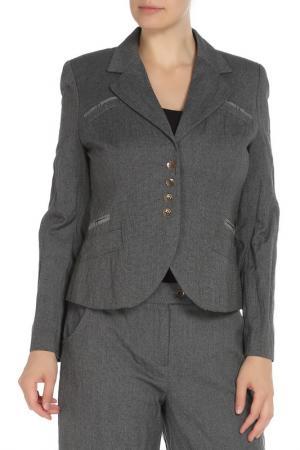 Пиджак MODART. Цвет: синий серый меланж