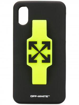 Чехол для iPhone XS с логотипом Off-White. Цвет: черный
