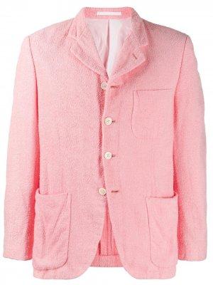 Фактурный жакет на пуговицах Comme Des Garçons Pre-Owned. Цвет: розовый