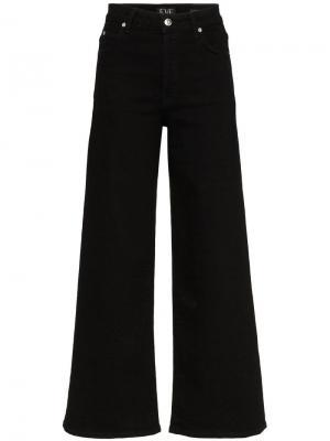 Широкие джинсы Eve Denim. Цвет: черный