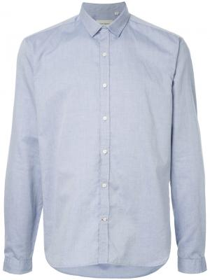 Рубашка с косым воротником Clerkenwell Oliver Spencer. Цвет: синий