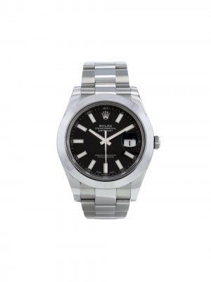 Наручные часы Datejust II pre-owned 2016-го года Rolex. Цвет: черный