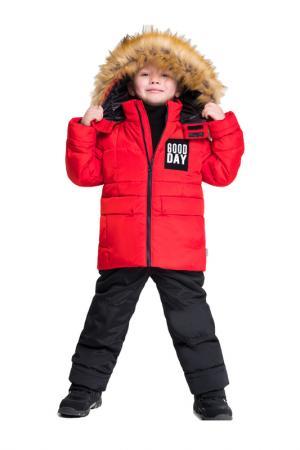 Комплект: куртка, брюки BOOM. Цвет: красный