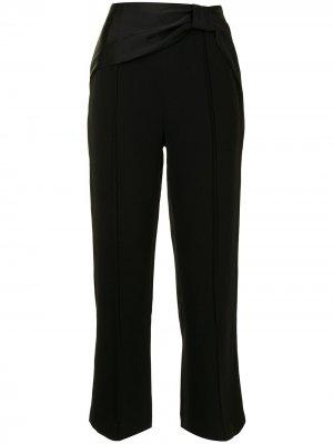 Расклешенные брюки Sonia с бантом Jonathan Simkhai. Цвет: черный