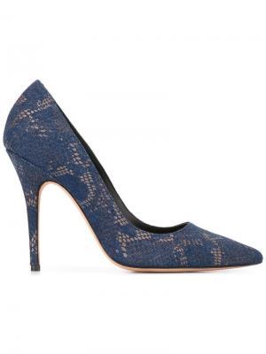 Туфли-лодочки Elle Jean-Michel Cazabat. Цвет: синий