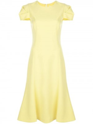 Платье миди с короткими рукавами Jason Wu Collection. Цвет: желтый