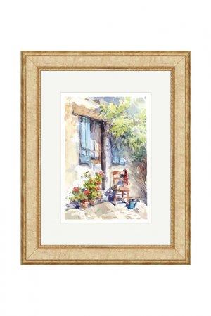Картина Садовый домик OLGA GLAZUNOVA. Цвет: зеленый
