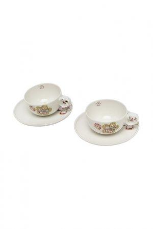 Набор из 2-х чайных пар ROYAL PORCELAIN CO. Цвет: белый