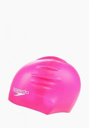 Шапочка для плавания Speedo. Цвет: розовый
