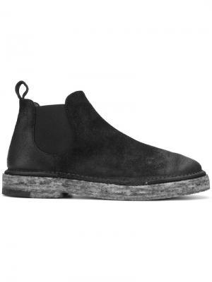 Ботинки по щиколотку на контрастной подошве Marsèll. Цвет: черный