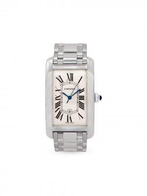 Наручные часы Tank Américaine pre-owned 26 мм 2013-го года Cartier. Цвет: белый