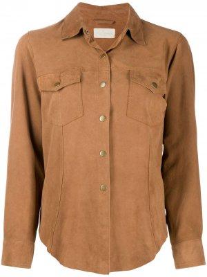 Рубашка с нагрудными карманами Mes Demoiselles. Цвет: нейтральные цвета