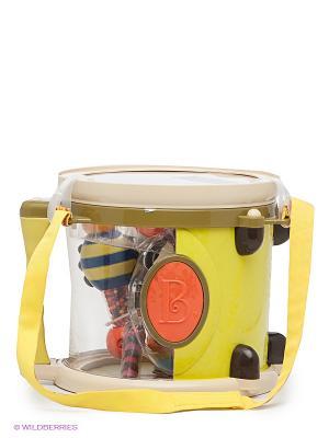 Барабан с погремушками Battat. Цвет: желтый