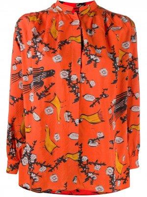 Блузка Tugela с принтом Christian Wijnants. Цвет: оранжевый