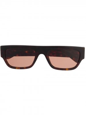 Солнцезащитные очки в прямоугольной оправе Stella McCartney Eyewear. Цвет: коричневый