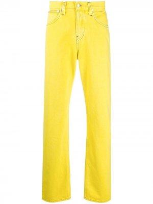 Прямые джинсы Helmut Lang. Цвет: желтый