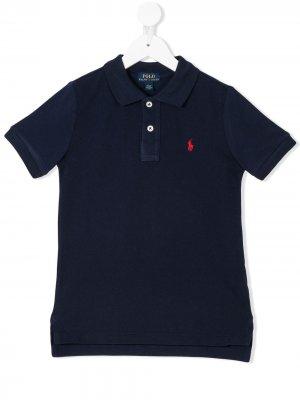 Классическая футболка-поло Ralph Lauren Kids. Цвет: синий