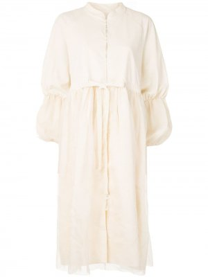 Многослойное платье-рубашка Renli Su. Цвет: желтый