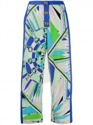 Укороченные брюки Bes с принтом Emilio Pucci. Цвет: зеленый