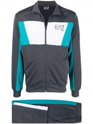 Спортивный костюм с логотипом Ea7 Emporio Armani. Цвет: серый