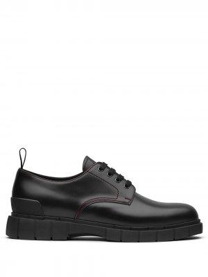 Туфли дерби Block на шнуровке Car Shoe. Цвет: черный