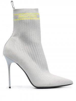Ботильоны-носки Skye Balmain. Цвет: серый