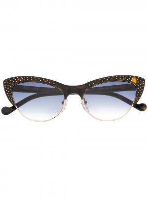 Солнцезащитные очки в оправе кошачий глаз LIU JO. Цвет: коричневый