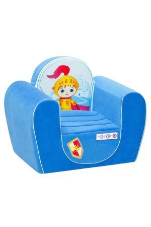 Игровое кресло Рыцарь PAREMO. Цвет: голубой